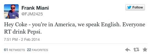 Speak American Pepsi