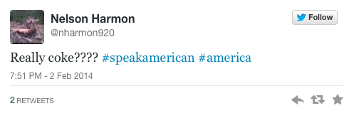 Speak American Really Coke