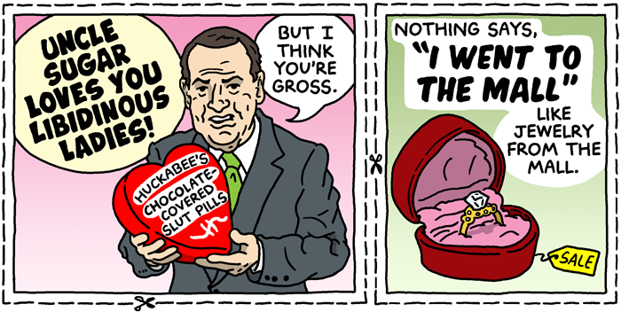 Thoughtless Valentines Huckabee