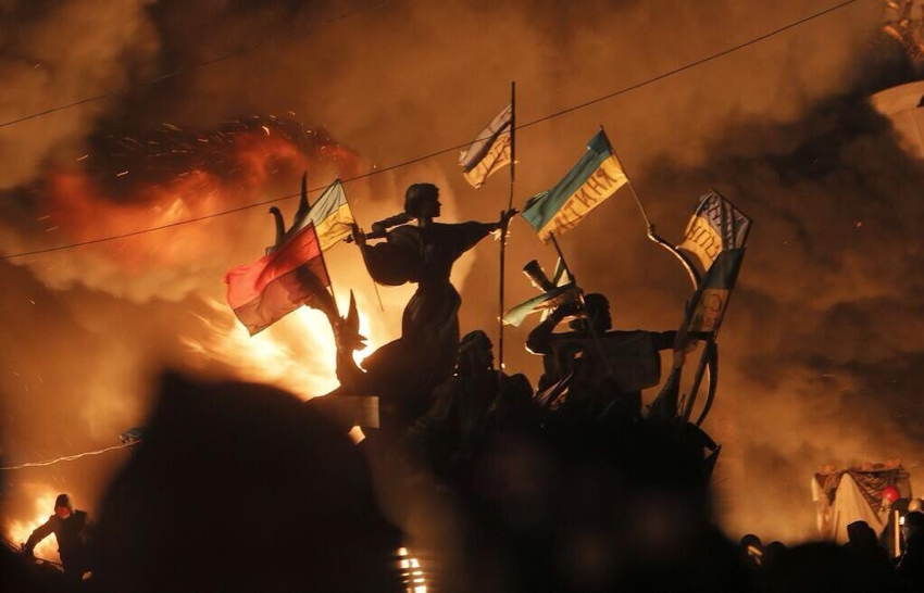 Ukraine Uprising Flags