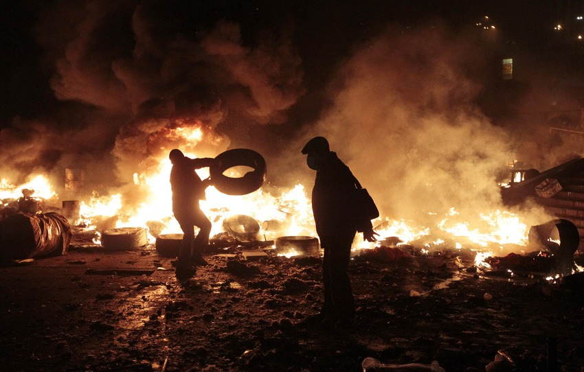 Ukraine Uprising Flames