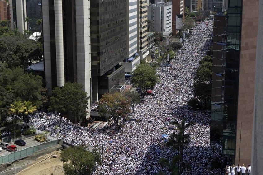 Venezuela Protests Aerial