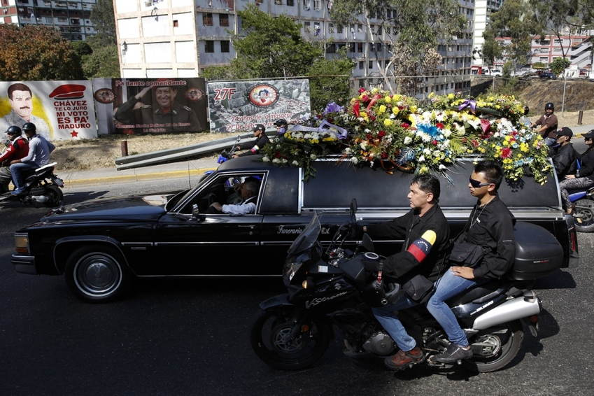 Venezuela Protests Hearse
