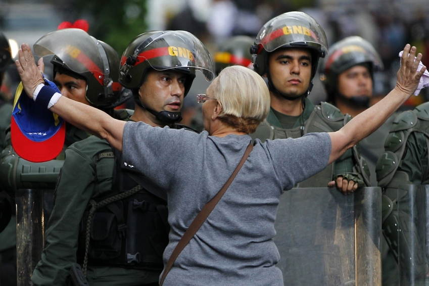 Venezuela Protests Opposition Woman