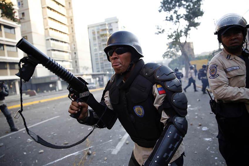 Venezuela Protests Riot Police