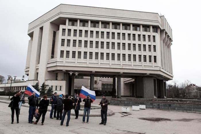 Crimea Occupation Building Flags