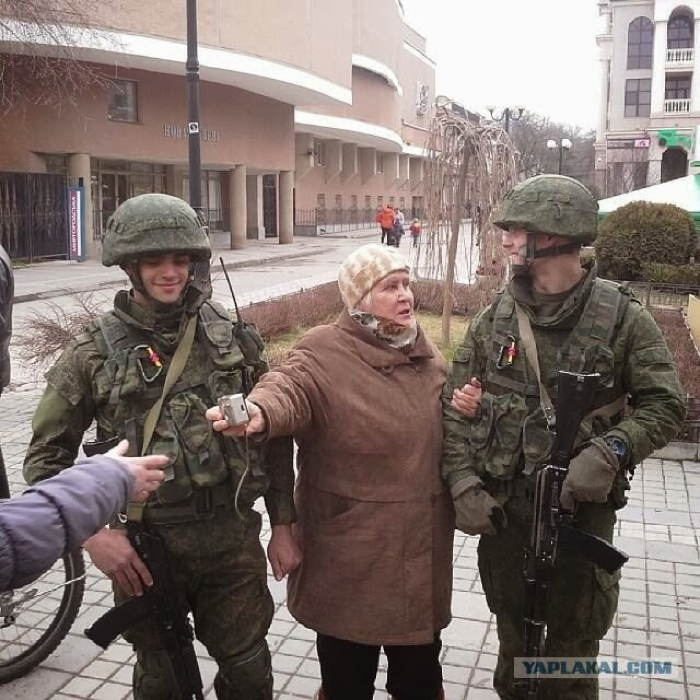Crimea Occupation Old Woman