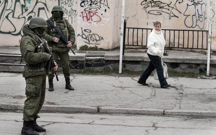Crimea Occupation Soldier Woman