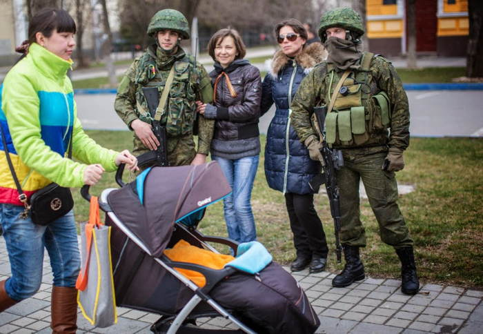Crimea Occupation Women Stroller