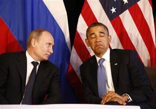 Putin Obama Frown