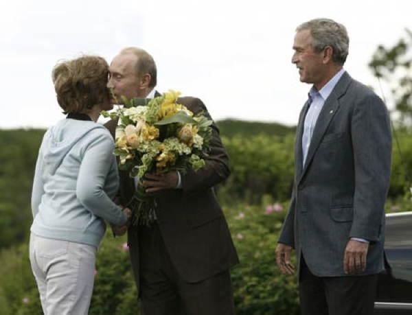 Putin Bush Flowers