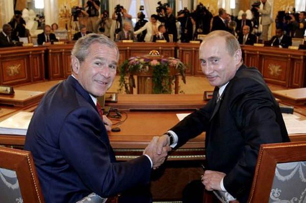 Putin Bush Handshake