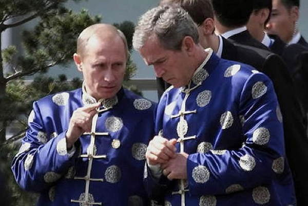 Putin Bush Mandarin Collars