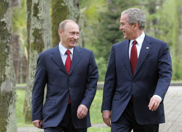 Putin Bush Suits