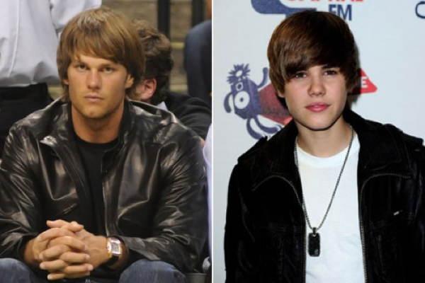 Tom Brady Justin Bieber